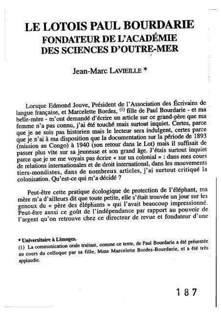 Le Lotois Paul Bourdarie Médias 19