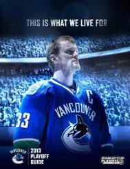 2012-13 Playoff Guide (PDF) - Vancouver Canucks