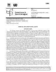 annotations to the provisional agenda - Convention on Biological ...