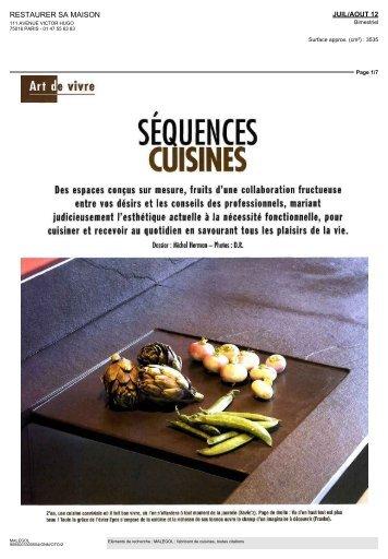 consulter l'article - Cuisines Malegol