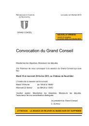 Ordre du jour - Canton de Neuchâtel
