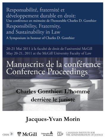 Charles Gonthier: L'homme derrière le juriste Jacques-Yvan ... - CISDL