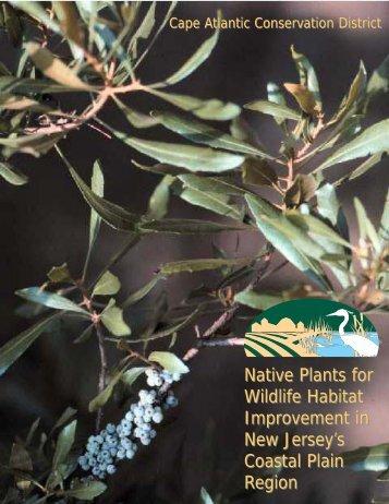 Native Plants for Wildlife Habitat Improvement in New Jersey's ...
