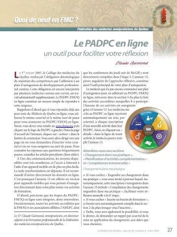Le PADPC en ligne : un outil pour faciliter votre réflexion