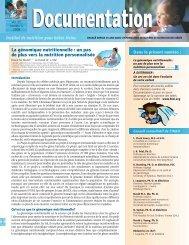 La génomique nutritionnelle - HINI :: Heinz Infant Nutrition Institute