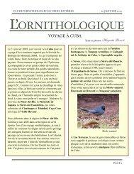 Voyage à Cuba, 10 janvier 2010 - Club d'ornithologie de Trois ...