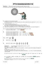 3ème 5 : Correction du D-M n ° 12