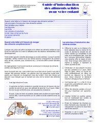 Guide introduction aliments solides - CSSS d'Ahuntsic et Montréal ...