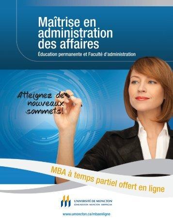 Téléchargez la brochure - Université de Moncton