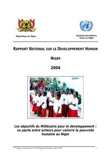 Rapport National sur le Développement Humain - Pnud