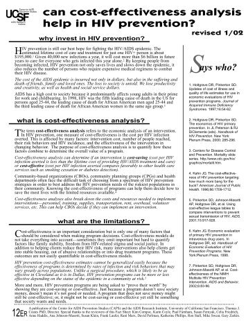 PDF version - Center for AIDS Prevention Studies (CAPS ...