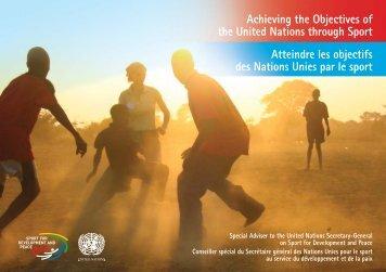 Atteindre les objectifs des Nations Unies par le sport - Fondation J ...
