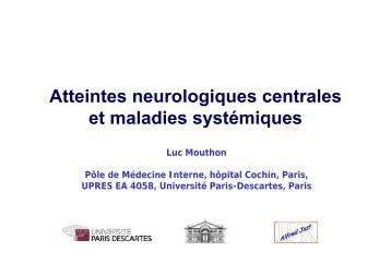 Atteintes neurologiques centrales et maladies systémiques