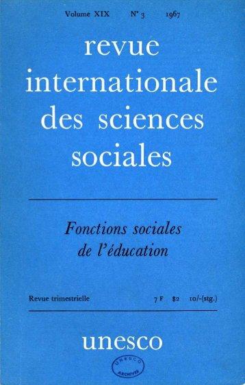 Les Sociologues et l'éducation; International ... - unesdoc - Unesco