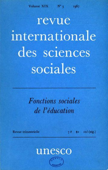 Les Sociologues et l'éducation; International ... - unesdoc - Unesco
