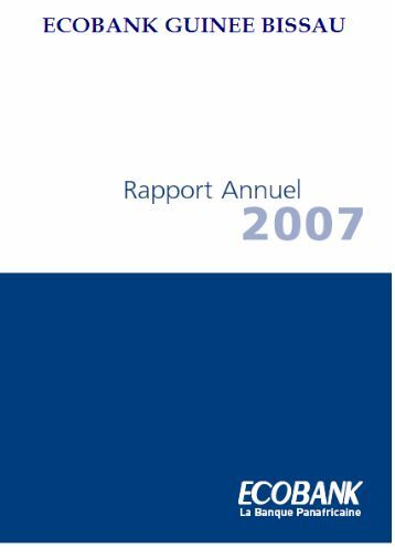 Rapport annuel 2007 - Ecobank