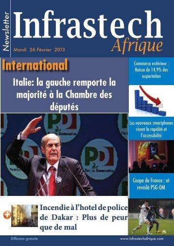 Mardi 26 Février 2013 - INFRASTECH AFRIQUE