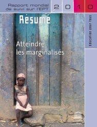 Atteindre les marginalisés: rapport mondial de suivi ... - YWCA Canada