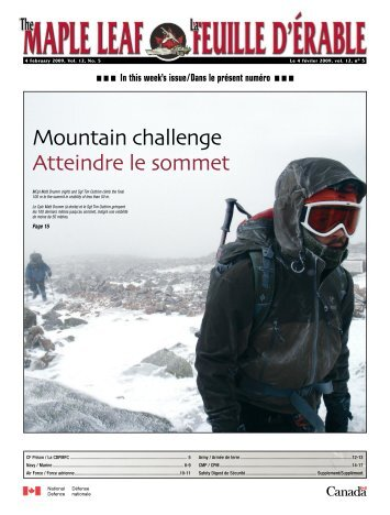 Mountain challenge Atteindre le sommet - Department of National ...