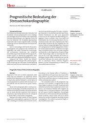 Herz Prognostische Bedeutung der Stressechokardiographie