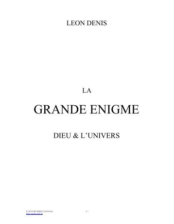GRANDE ENIGME - a era do espírito