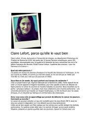 Claire Lefort, parce qu'elle le vaut bien - Université de Limoges
