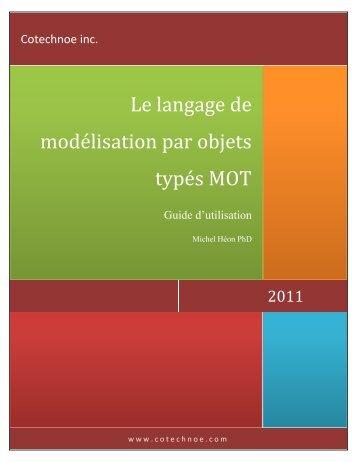 guide sur la Modélisation par objets typés - Cotechnoe