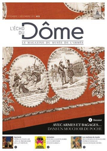 L'écho du Dôme, septembre, décembre 2012 - n ... - Musée de l'Armée