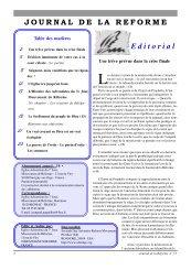 Une trêve prévue dans la crise finale - Journal de la Réforme - Free