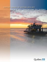 Rapport annuel 2010-2011 - Société des traversiers du Québec