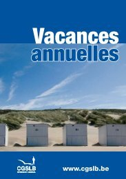 Vacances annuelles - Cgslb.be