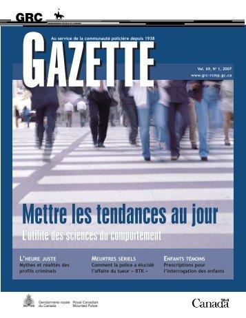 Behavorial Science - fre.qxp - Gendarmerie royale du Canada