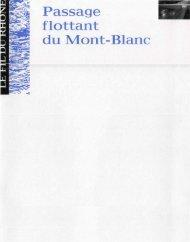Passage flottant du Mont-Blanc - Ville de Genève