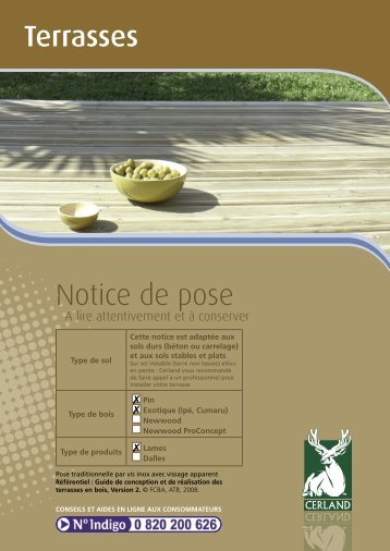 Notice de pose Terrasses - Cerland