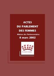 ACTES DU PARLEMENT DES FEMMES