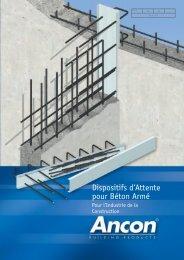 Dispositifs d'attente pour béton armé - Ancon Building Products