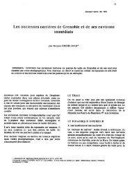 Les anciennes carrières de Grenoble et de ses environs immédiats