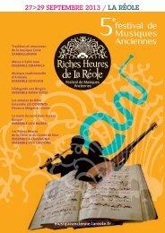 festival de Musiques Anciennes - Ensemble Vox Cantoris