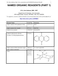 NAMED ORGANIC REAGENTS (PART 1)