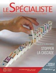 stopper lA cAscAde - Fédération des médecins spécialistes du ...