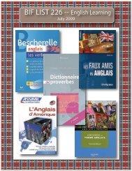 BIF LIST 226 -- English Learning