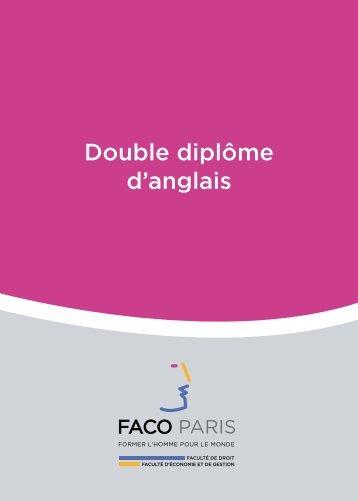 Double diplôme d'anglais - Faco Paris