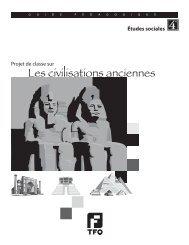 Projet de classe sur les civilisations anciennes - TFO