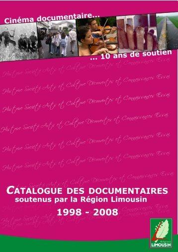 CATALOGUE DES DOCUMENTAIRES - Région Limousin