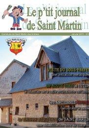 le petit journal de Saint Martin n°8 - Commune de Saint Martin des ...