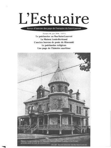 Le patrimoine au Bas-Saint-Laurent, entre - Bienvenue sur ...