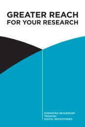 GreaTer reach fOr yOur research - CARL - ABRC