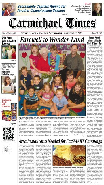 Most Current Issue - Carmichael Times