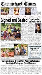 Superintendent Jaurequi to Retire - Carmichaeltimes.com