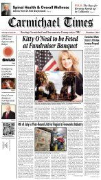Kitty O'Neal to be Feted at Fundraiser Banquet - Carmichael Times